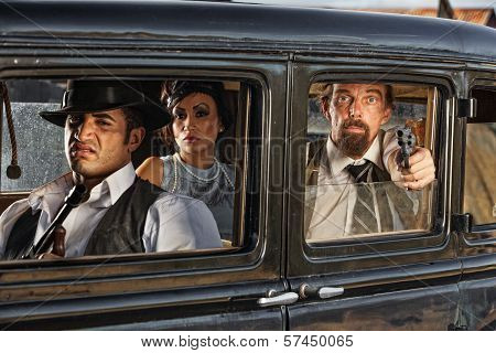 1920S Era Gangsters Drive By