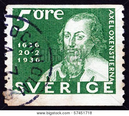 Postage Stamp Sweden 1936 Chancellor Axel Oxenstierna