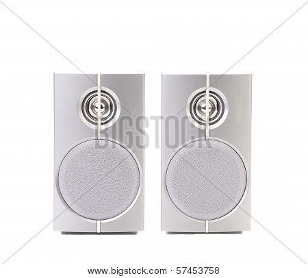 Gray sound speakers.