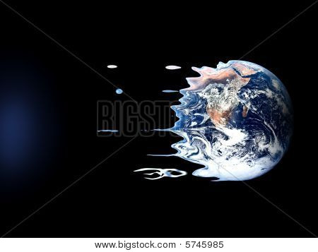 Violent death of earth by black hole