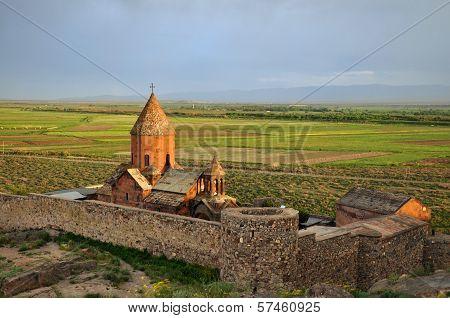 Sacred Khor Virap Monastery In Armenia
