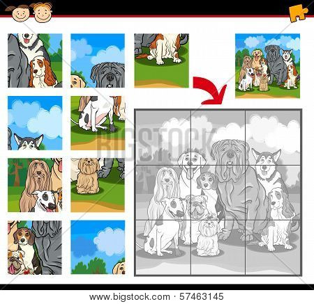 Cartoon Dogs Jigsaw Puzzle Game