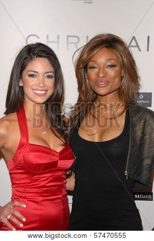 Nicole Johnson and Alicia Marie at the introduction of the Chris ire