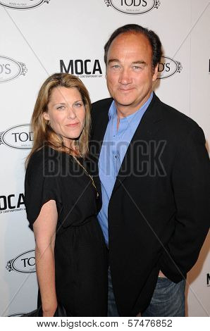 Jim Belushi and wife at the Tod's Beverly Hills Boutique Opening Celebration, Tod's Boutique, Beverly Hills, CA. 04-15-10