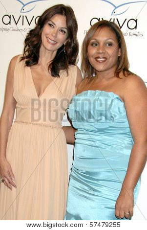Teri Hatcher and Angelique Encarnacion   at the Aviva Family and Children's Services Gala,  Beverly Wilshire Four Seasons Hotel, Beverly Hills, CA. 04-17-10
