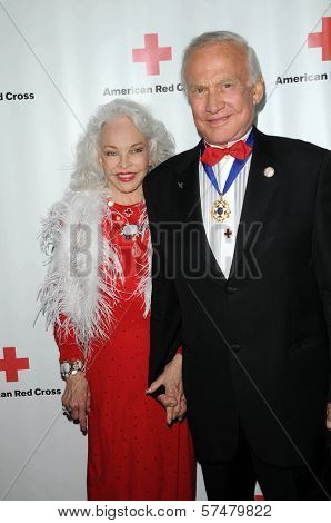 Lois Aldrin and Buzz Aldrin at the Red  Cross Red Tie Affair Fundraiser Gala, Fairmount Miramar Hotel, Santa Monica, CA. 04-17-10