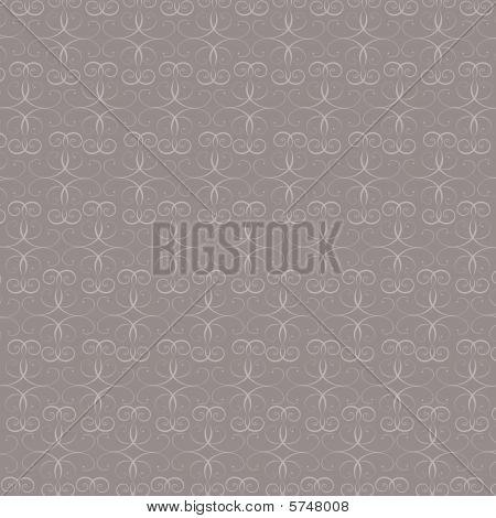 Gray Ornate Wallpaper