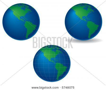 Globes - Americas