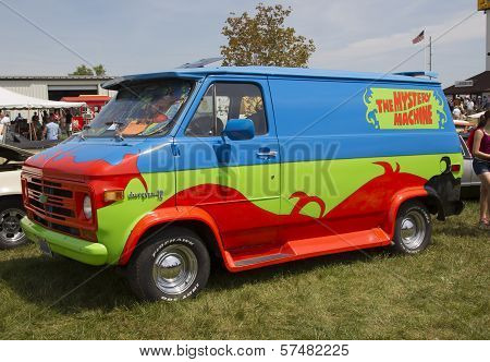 1974 Chevy Scooby Doo Mystery Machine Van Side View