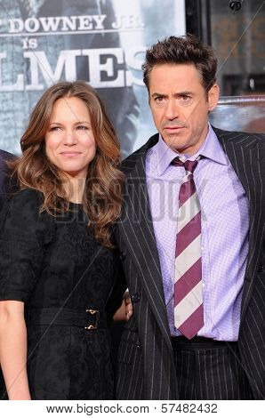 Robert Downey Jr. and wife Susan Levin  at Robert Downey Jr. Hand and Footprints Ceremony, Chinese Theater, Hollywood, CA. 12-07-09