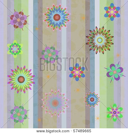 Seamless Background Illustration With Flowers