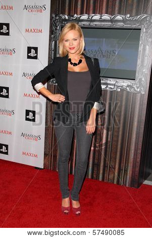 Anya Monzikova  at the MAXIM magazine and Ubisoft launch of Assassin's Creed II, Voyeur, West Hollywood, CA. 11-11-09