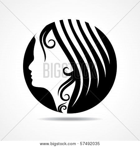 Beautiful fashion lady face stock vector