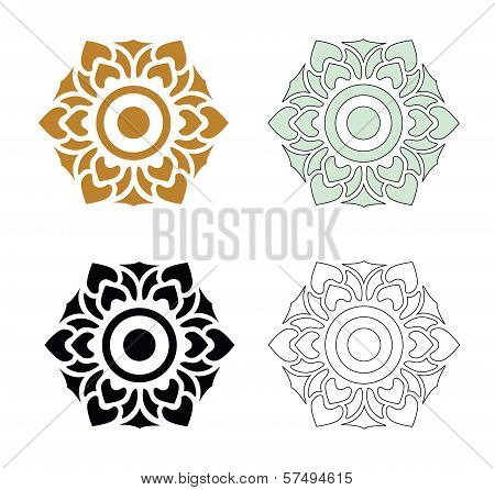 Thai Pattern Flower
