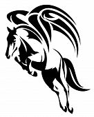 pic of winged-horse  - winged horse design  - JPG