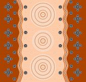 foto of aborigines  - An illustration based on aboriginal style of dot painting depicting a pattern - JPG