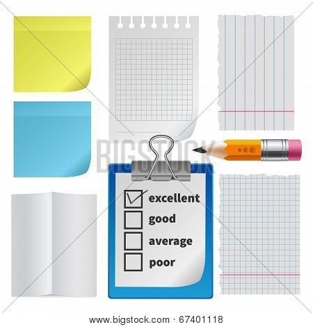 Note paper office set