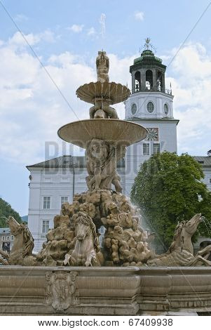 Residence Fountain In Salzburg
