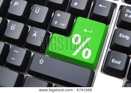 Percent Symbol On Key