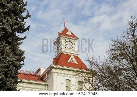 Benton County Courthouse clock tower, Corvallis, Oregon