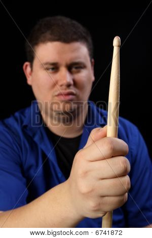 Man With Drumstick Right