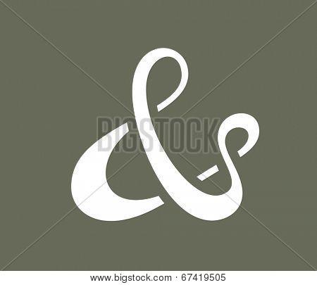 Ampersand symbol for decoration. Vector illustration