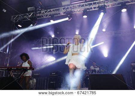 Betty Who performing