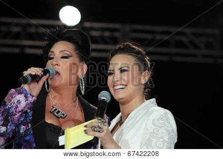 MCs Michelle Visage & Demi Lovato