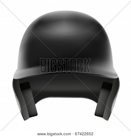Baseball Helmet Front View. Isolated On White Background. Bitmap Copy.