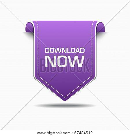 Download Now Purple Label Icon Vector Design