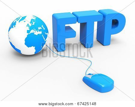 Global Internet Indicates File Transfer Protocol And Web