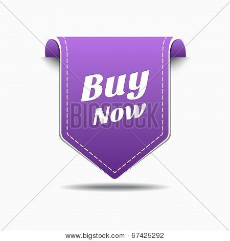Buy Now Purple Label Icon Vector Design