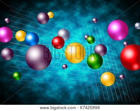 Explosion Colourful Means Bubble Explosive And Spherical