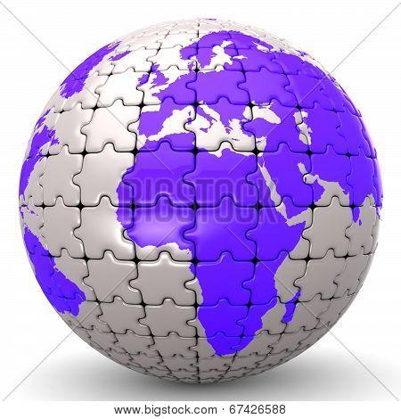 Globe World Jigsaw Puzzle