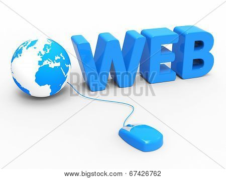 Web Global Means Globally Internet And Worldwide