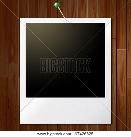 Photo Frames Represents Empty Space And Copy