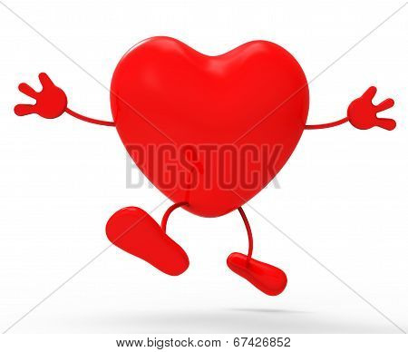 Heart Character Means Valentine's Day And Affection