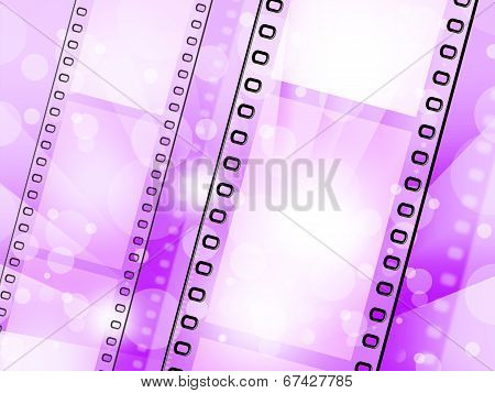 Filmstrip Background Represents Text Space And Backgrounds