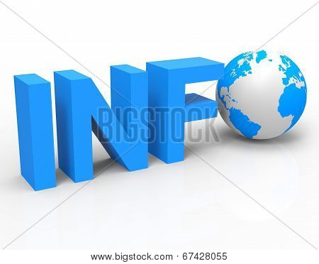 World Info Shows Knowledge Globalisation And Information