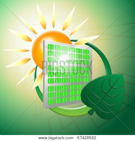 Green Energy Represents Power Source And Electric