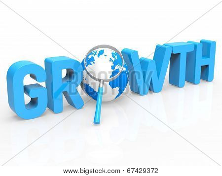 Financial Growth Represents Develop Expansion And Increase