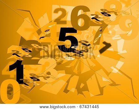 Maths Numbers Shows Numerical Numerals And Design
