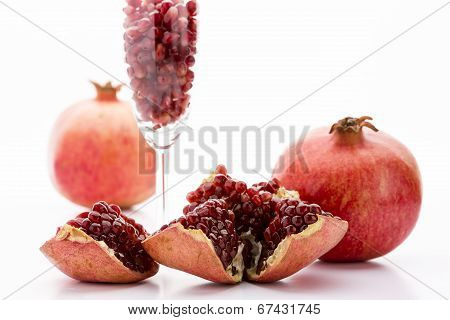 Pomegranate and its seeds