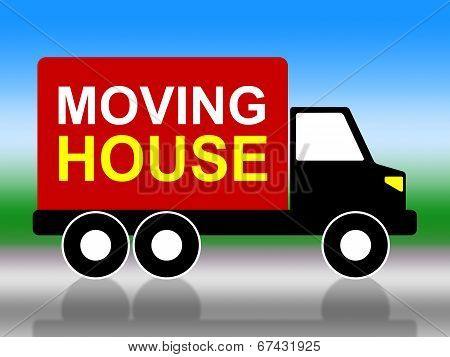 Moving House Shows Change Of Address And Delivery