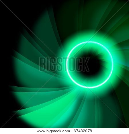 Twirl Space Means Light Burst And Artistic