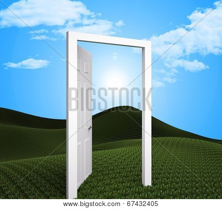 Doorway Planning Indicates Target Goals And Aspire