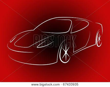Illustration Sportscar Indicates Design Motorshow And Style