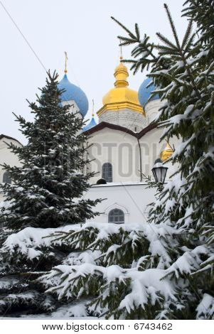 Russian Orthodox Church In The Winter