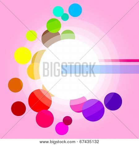 Glow Background Represents Light Burst And Circles
