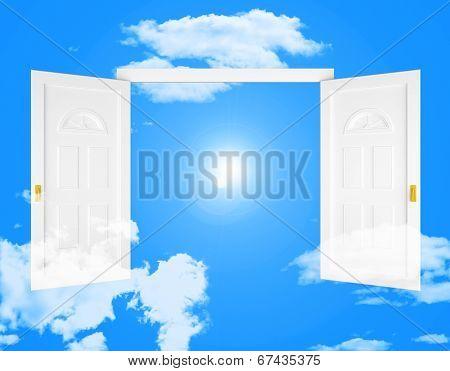 Sky Doorway Shows Doorways Doors And Eternity
